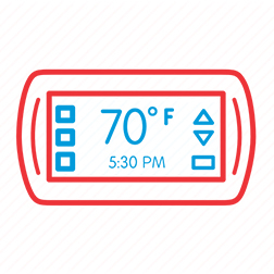 New Smart Thermostats Icon